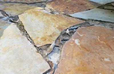 Advanced Landscape Services - Morristown, TN. Flagstone Paver Sand Peeled Away