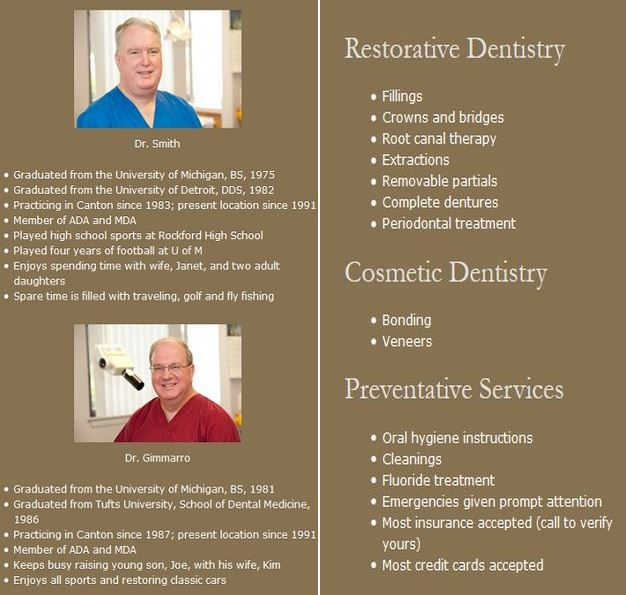 General Dentistry canton, mi services, general dentistry