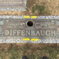 Oak Lawn Cemetery & Chapel - Baltimore, MD. Crack in upper center of marker in granite stone.