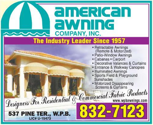 American Awning Company Inc 537 Pine Ter West Palm Beach Fl 33405