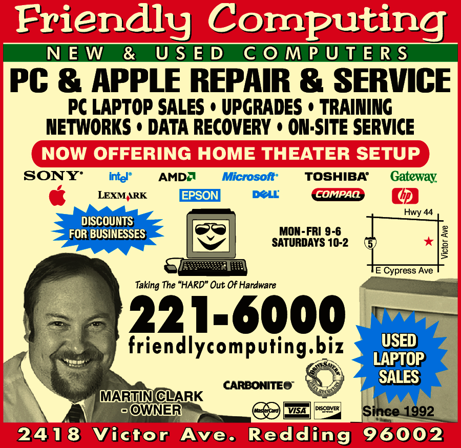 Friendly Computing Inc. Redding, CA 96002 - YP.com