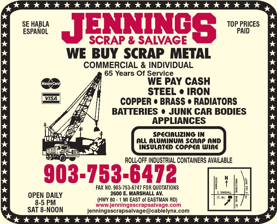 Jennings Scrap & Salvage 2600 E Marshall Ave, Longview, TX 75601 ...