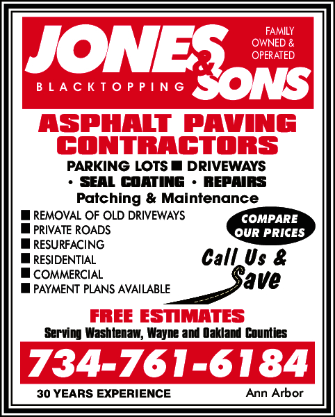 Jones & Sons Asphalt Paving 44050 Ecorse Rd, Belleville