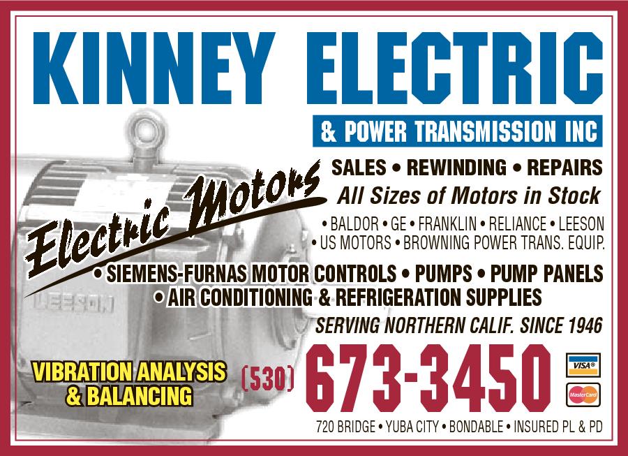 Kinney Electric & Power Transmissions Inc 720 Bridge St, Yuba City ...