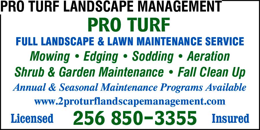 Pro Turf Landscape Management Brownsboro, AL 35741 - YP.com
