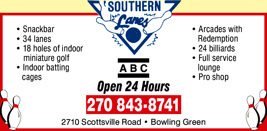 southern lanes bowling alley bowling green kentucky
