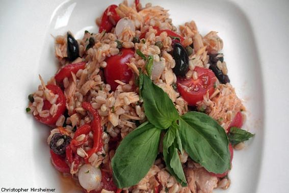 Farro with Tuna and Tomatoes