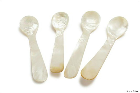 Mother-of-Pearl Caviar Spoons, Sur la Table
