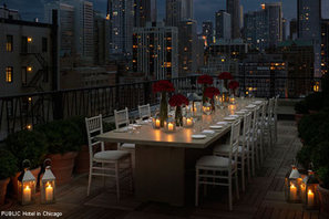 Rooftop Table at PUBLIC Hotel in Chicago