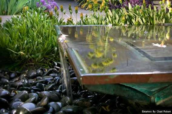 Landscape Design Trends - Customized Water Fountains, Exteriors by Chad Robert