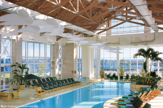 America 39 S Fabulous Hotel Pools Indoors Hyatt Regency Chesapeake Bay