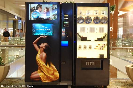 The Caviar ATM From Beverly Hills Caviar