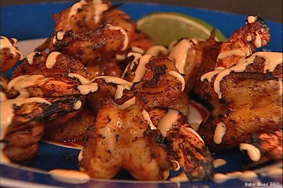 Grilled BBQ Shrimp at Baby Blues BBQ